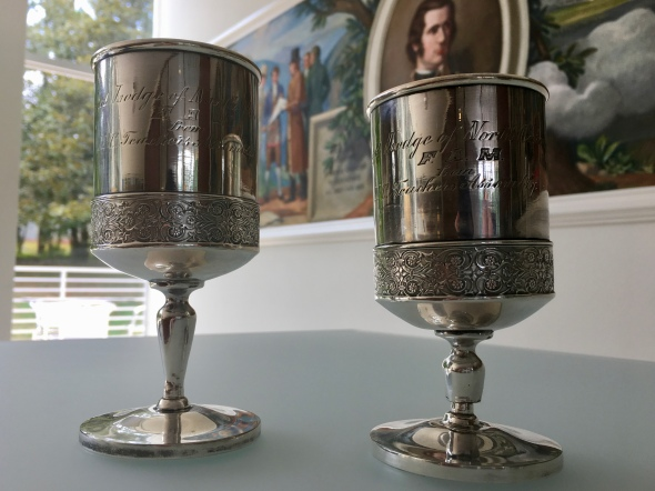 Only 2 of the original 3 cups survive and are a part of the Grand Lodge's historic artifact collection.